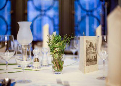Tischschmuck Blauer Saal