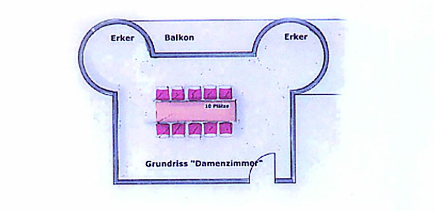 Bestuhlungsplan Damenzimmer