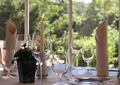 Tischdeko Dippelshof Gartenhaus